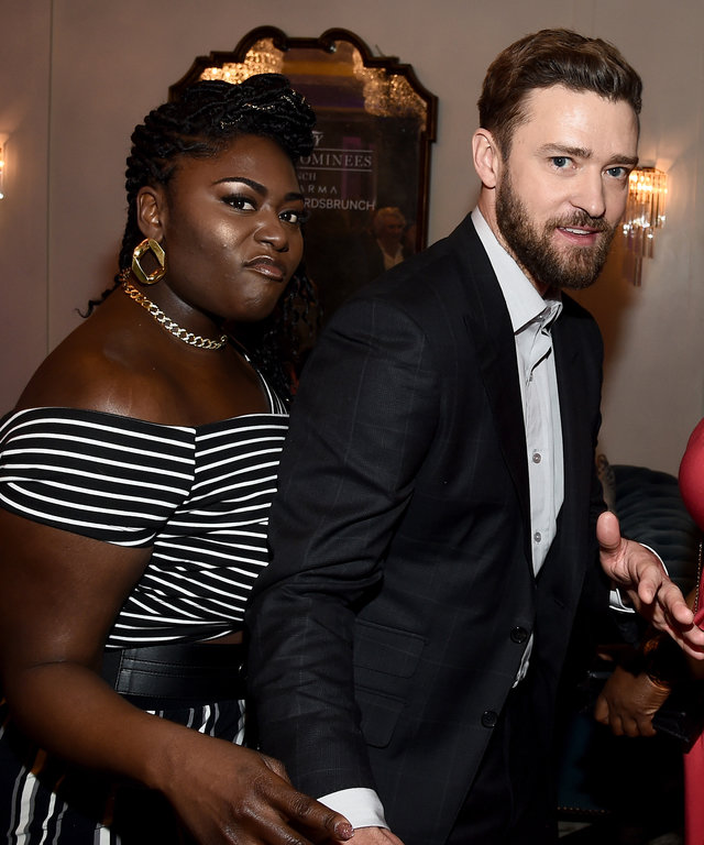 Mandatory Credit: Photo by Buckner/Variety/REX/Shutterstock (8137067i) Danielle Brooks and Justin Timberlake Variety Awards Nominees Brunch presented by Karma, Inside, Los Angeles, USA - 28 Jan 2017