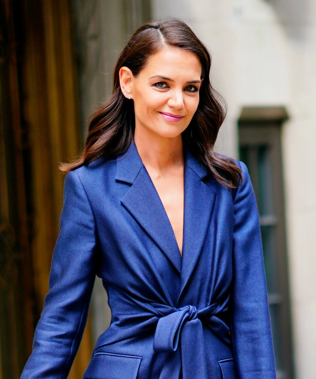 Katie Holmes wearing a suit