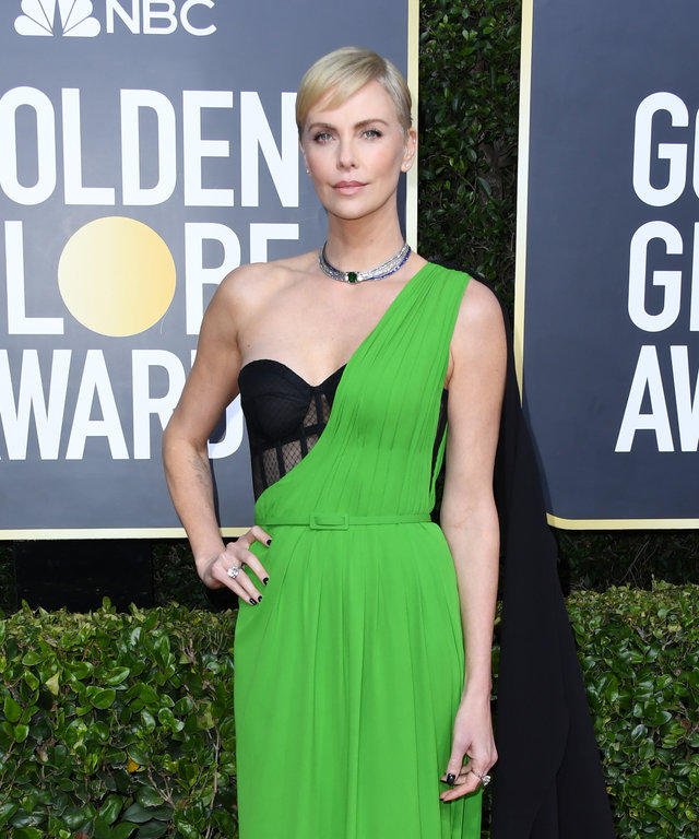 Charlize Theron Golden Globes 2020 Dior Dress