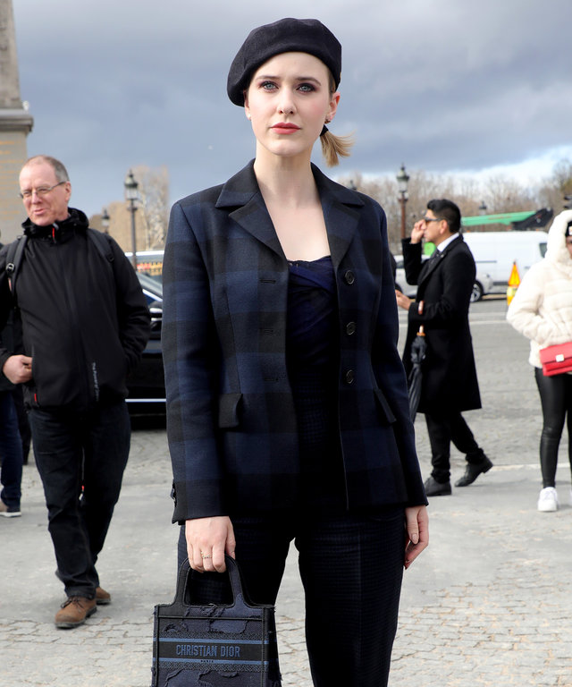 Rachel Brosnahan Paris Fashion Week Fall 2020