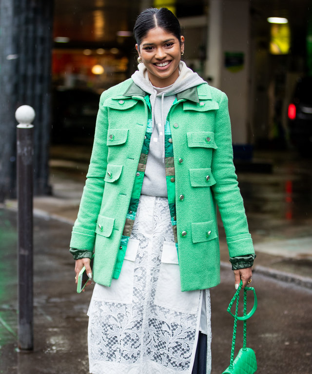 St. Patrick's Day Outfit Ideas, Green Jacket Outfit