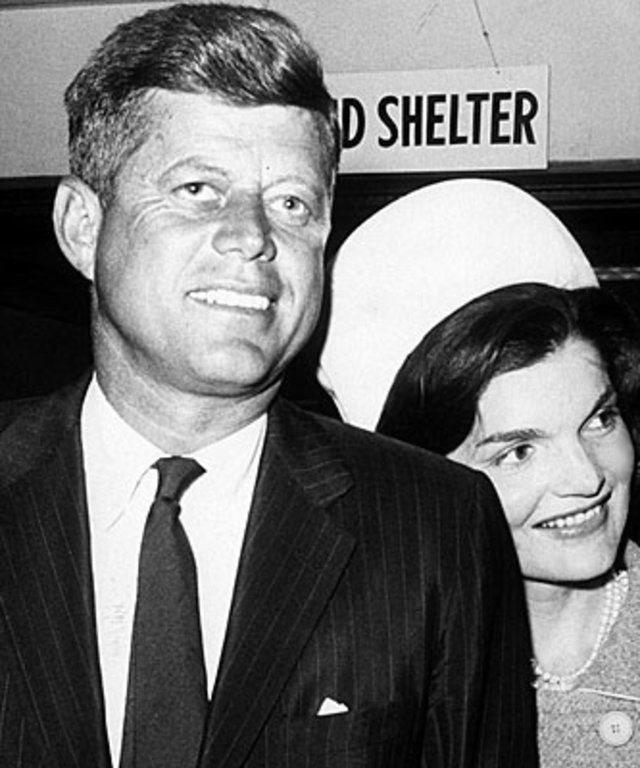 Jacqueline Kennedy and John F. Kennedy