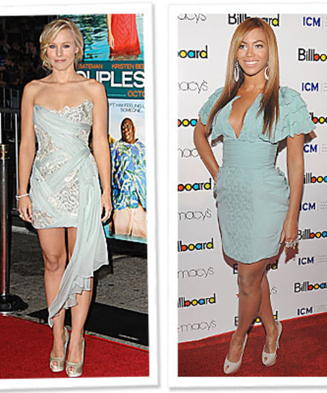 Kristen Bell in Marchesa - Beyonce in Malandrino - What's Right Now