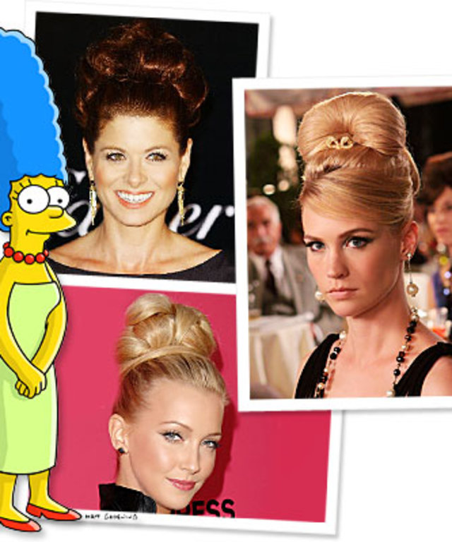 Marge Simpson-Debra Messing-Mad Men-Katie Cassidy-Hair