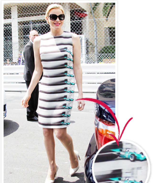 Princess Charlene Race Car Dress Designer, Akris