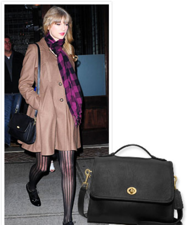 Found It Taylor Swift S Black Coach Bag Instyle