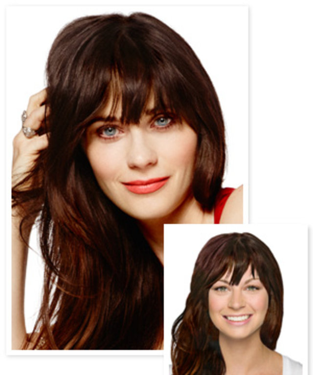 Try On Zooey Deschanel S Cover Hairstyle Instyle