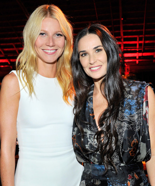Gwyneth Paltrow & Demi Moore at PSLA Autumn Party