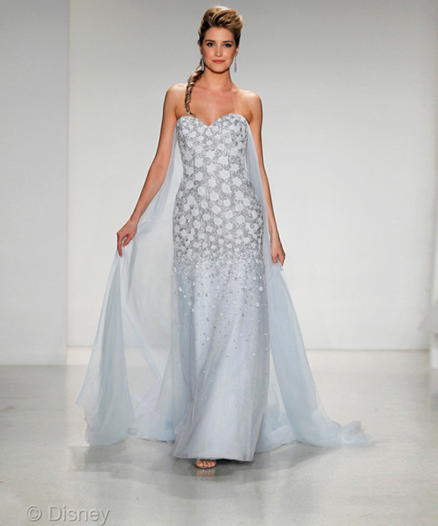 See Disney S Elsa Inspired Wedding Gown Instyle Com