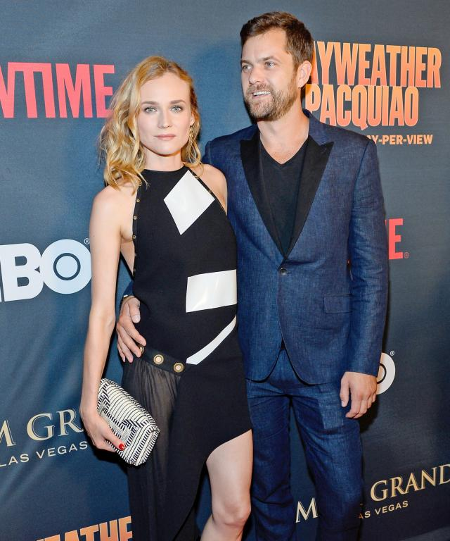Actress Diane Kruger (L) and actor Joshua Jackson attend the SHOWTIME And HBO VIP Pre-Fight Party for  Mayweather VS Pacquiao  at MGM Grand Hotel & Casino on May 2, 2015 in Las Vegas, Nevada.