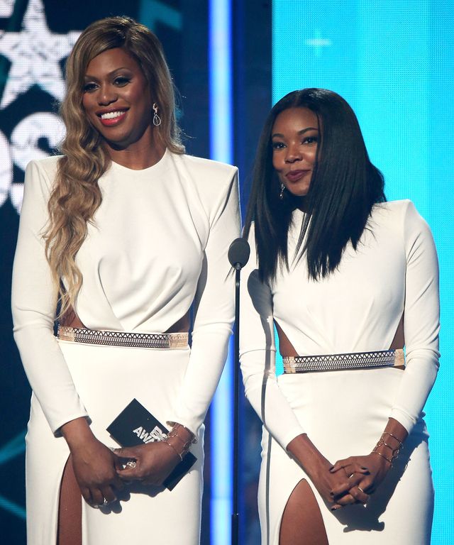 Gabrielle Union and Laverne Cox at the BET Awards - Lead