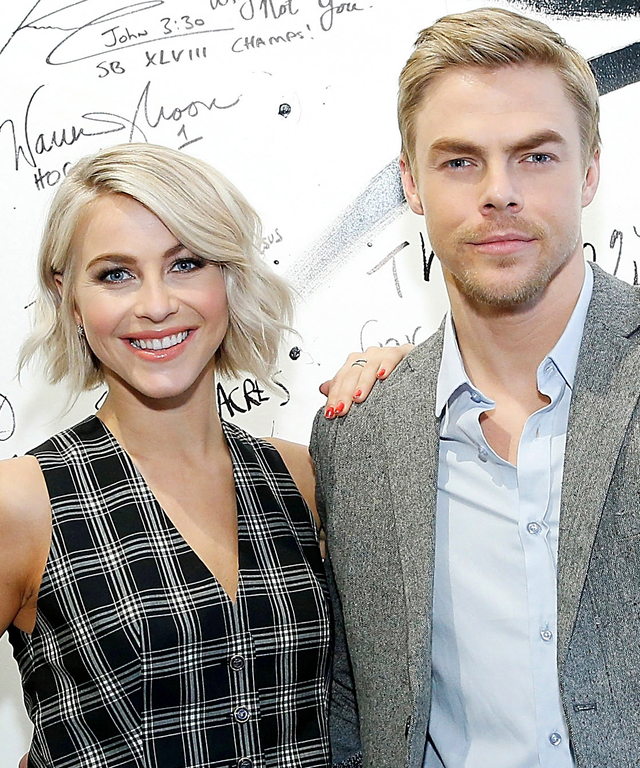 Julianne Hough and Derek Hough