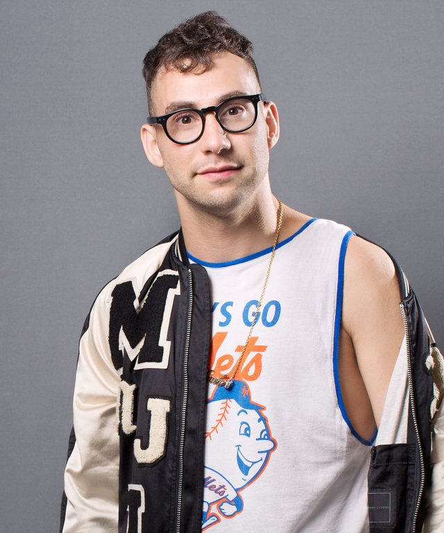 "Singer Jack Antonoff poses for a portrait at the Logo TV's ""Trailblazers"" at the Cathedral of St. John the Divine on June 25, 2015 in New York City."