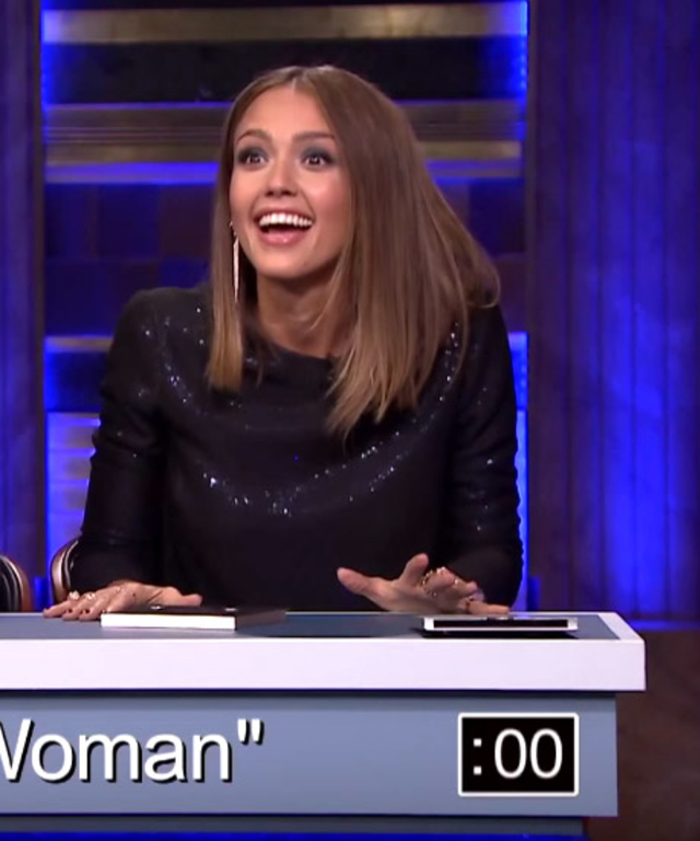Jessica Alba on Jimmy Fallon