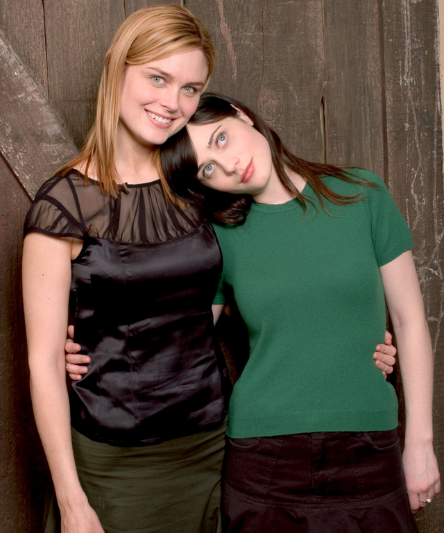 Emily Deschanel and Zooey Deschanel during 2004