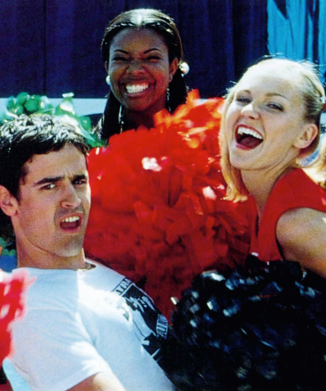BRING IT ON, from left: Nicole Bilderback, Jesse Bradford, Gabrielle Union (rear), Kirsten Dunst, 20