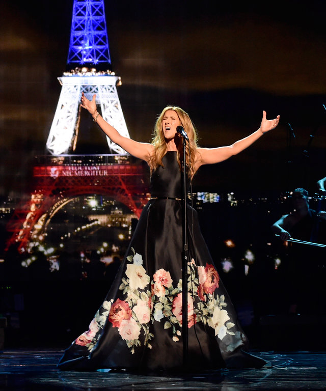 Singer Celine Dion performs onstage during the 2015 American Music Awards at Microsoft Theater on November 22, 2015 in Los Angeles, California.