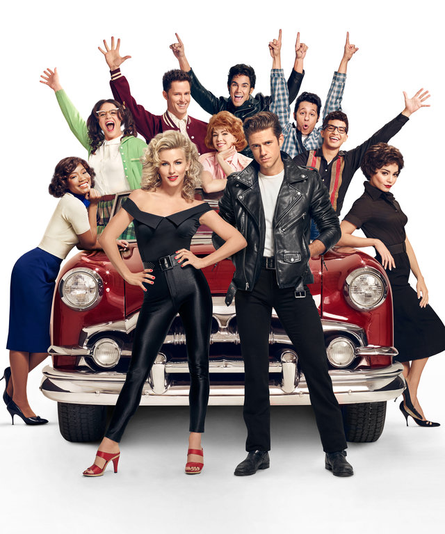 (L-R): Keke Palmer, Kether Donohue, Julianne Hough, Andrew Call, Carly Rae Jespen, Carlos PenaVega Aaron Tveit, David Del Rio, Jordan Fisher and Vanessa Hudgens in GREASE: LIVE airing LIVE Sunday, Jan. 31, 2016 (7:00-10:00 PM ET live/PT tape-delayed)