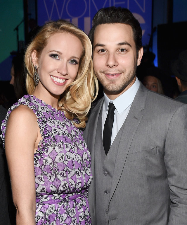 Actors Anna Camp and Skylar Astin attend the 6th annual ELLE Women In Music celebration presented By eBay. Hosted by Robbie Myers with performances by Alanis Morissette, Banks and Tinashe at Boulevard3 on May 20, 2015 in Hollywood, California.