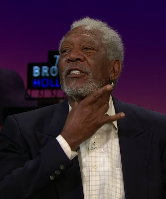 Morgan Freeman - James Corden