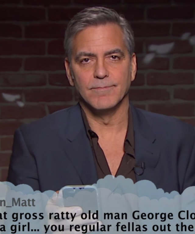 Celebrity Mean Tweets - Jimmy Kimmel - George Clooney