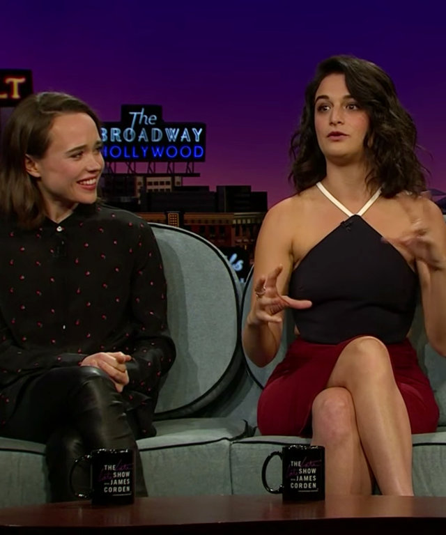 Ellen Page and Jenny Slate - James Corden