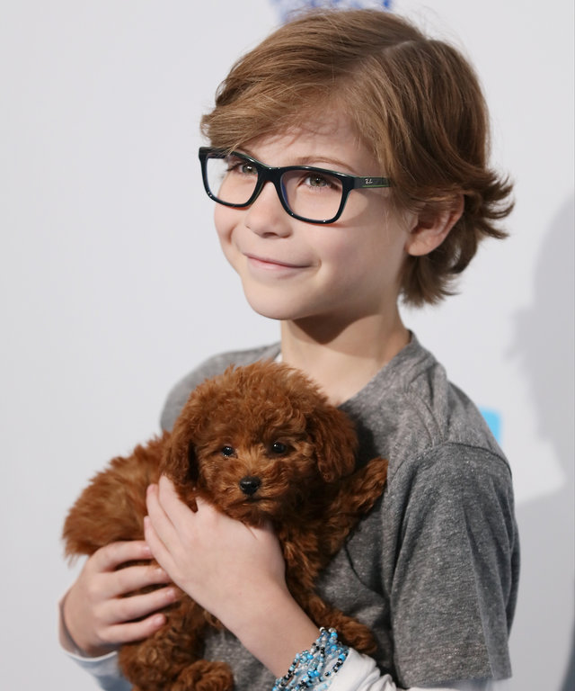 Jacob Tremblay walks the WE Carpet at WE Day California 2016 at The Forum on April 7, 2016 in Inglewood, California.
