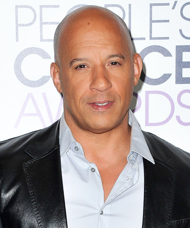 Actor Vin Diesel poses for photos in the press room during the People's Choice Awards 2016 at Microsoft Theater on January 6, 2016 in Los Angeles, California.