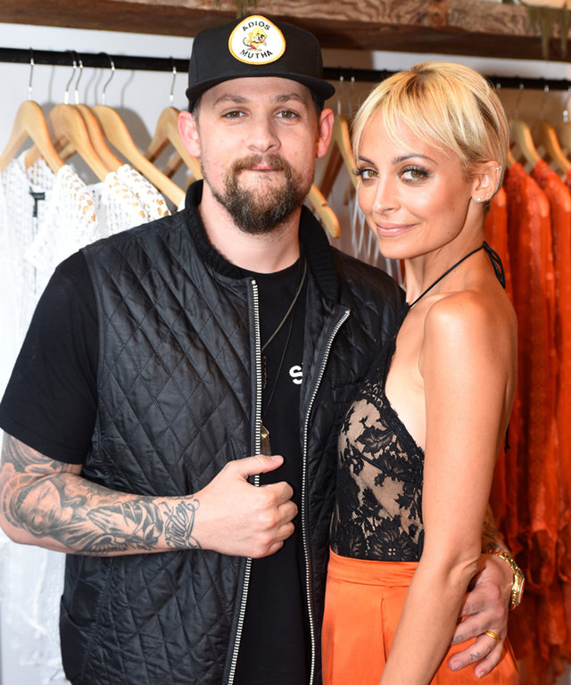 "LOS ANGELES, CA - JULY 07: Singer Joel Madden (L) and Nicole Richie attend VH1's ""Candidly Nicole"" Season 2 Premiere Event at House of Harlow at The Grove on July 7, 2015 in Los Angeles, California. (Photo by Jeff Vespa/Getty Images for VH1)"