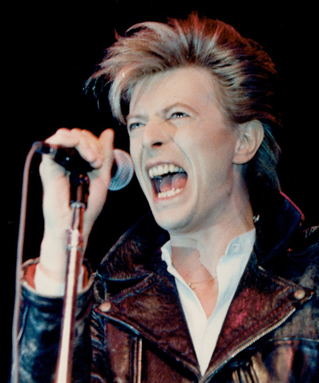 CANADA - MARCH 17:  From the new album: Rocker David Bowie yesterday gave Toronto a taste of his new album (due out in April) at a news conference in the Diamond nightclub.   (Photo by Doug Griffin/Toronto Star via Getty Images)