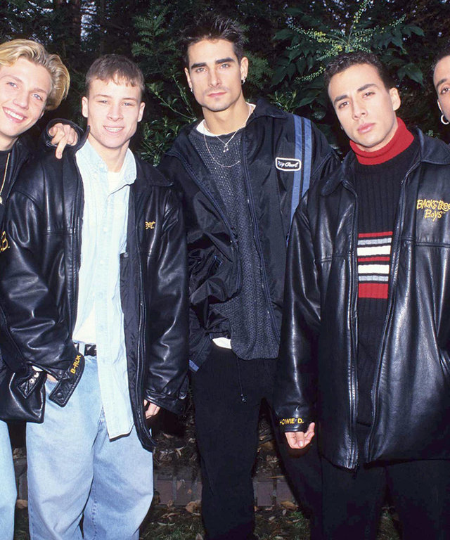 The Backstreet Boys during The Backstreet Boys in London - February 1, 1996 in London, Great Britain. (Photo by Fred Duval/FilmMagic)