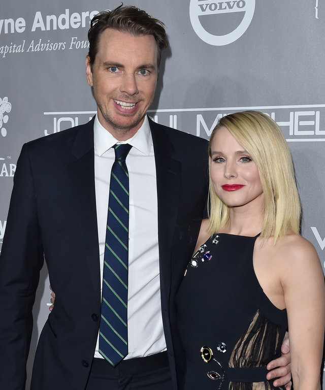 Actors Dax Shepard (L) and Kristen Bell arrive at the 5th Annual Baby2Baby Gala at 3LABS on November 12, 2016 in Culver City, California.