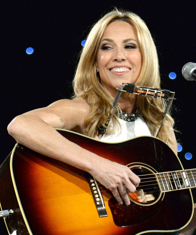 LOS ANGELES, CA - FEBRUARY 06:  Sheryl Crow performs onstage at the 25th anniversary MusiCares 2015 Person Of The Year Gala honoring Bob Dylan at the Los Angeles Convention Center on February 6, 2015 in Los Angeles, California. The annual benefit raises c