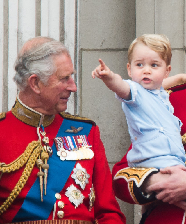 Prince Charles, Prince George, and Prince William lead