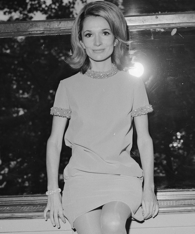 Lee Bouvier, actress & sister of Jacqueline Kennedy Onassis, pictured at The Savoy Hotel in London 19th September 1967.