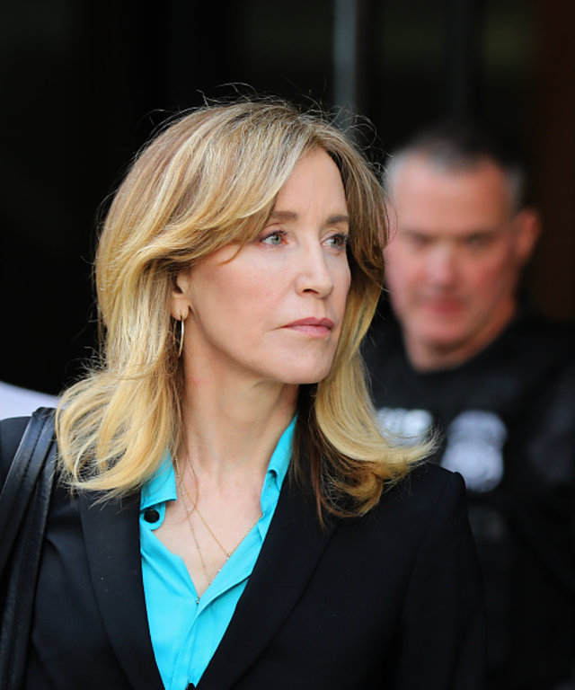 BOSTON, MA - APRIL 3: Actress Felicity Huffman leaves the John Joseph Moakley United States Courthouse in Boston on April 3, 2019. Hollywood stars Felicity Huffman and Lori Loughlin were among 13 parents scheduled to appear in federal court in Boston...