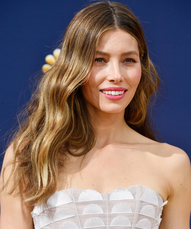 LOS ANGELES, CA - SEPTEMBER 17:  Jessica Biel attends the 70th Emmy Awards at Microsoft Theater on September 17, 2018 in Los Angeles, California.  (Photo by Frazer Harrison/Getty Images)