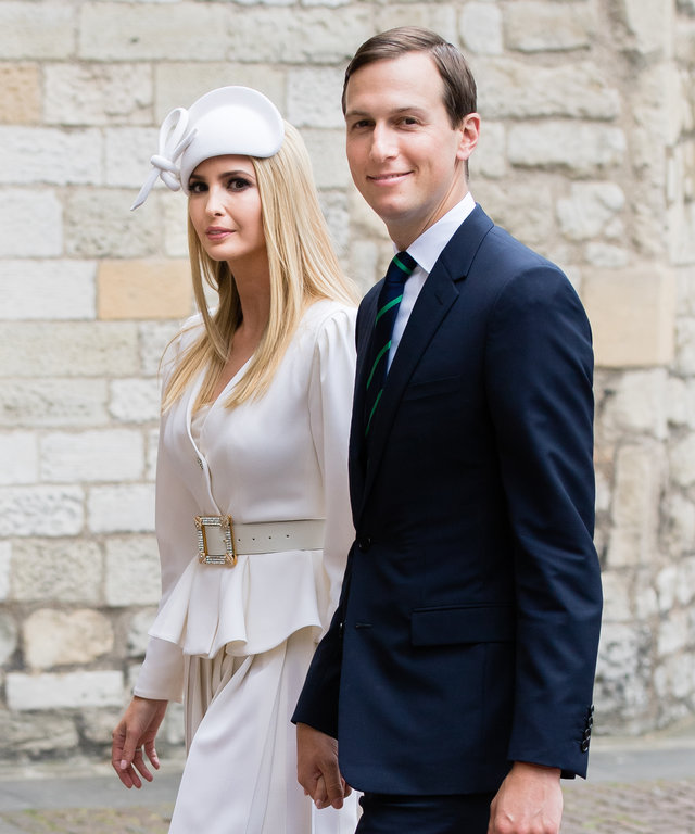 LONDON, ENGLAND - JUNE 03: Jared Kushner (R) and Ivanka Trump visit Westminster Abbery on June 03, 2019 in London, England. (Photo by Samir Hussein/Samir Hussein/WireImage)