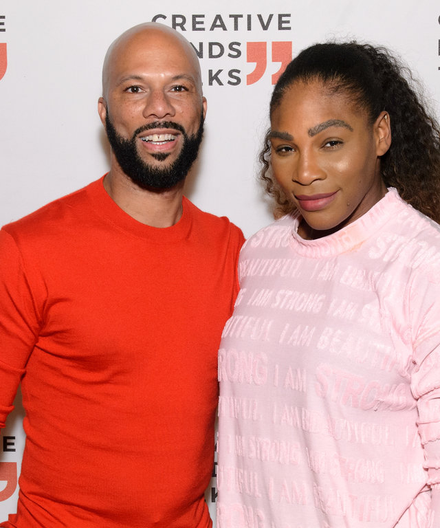 CHICAGO, IL - OCTOBER 29:  Common and Serena Williams attend the Creative Minds Talks conversation series to discuss philanthropy, activism and entrepreneurship at Lyric Opera Of Chicago on October 29, 2018 in Chicago, Illinois.  (Photo by Daniel...