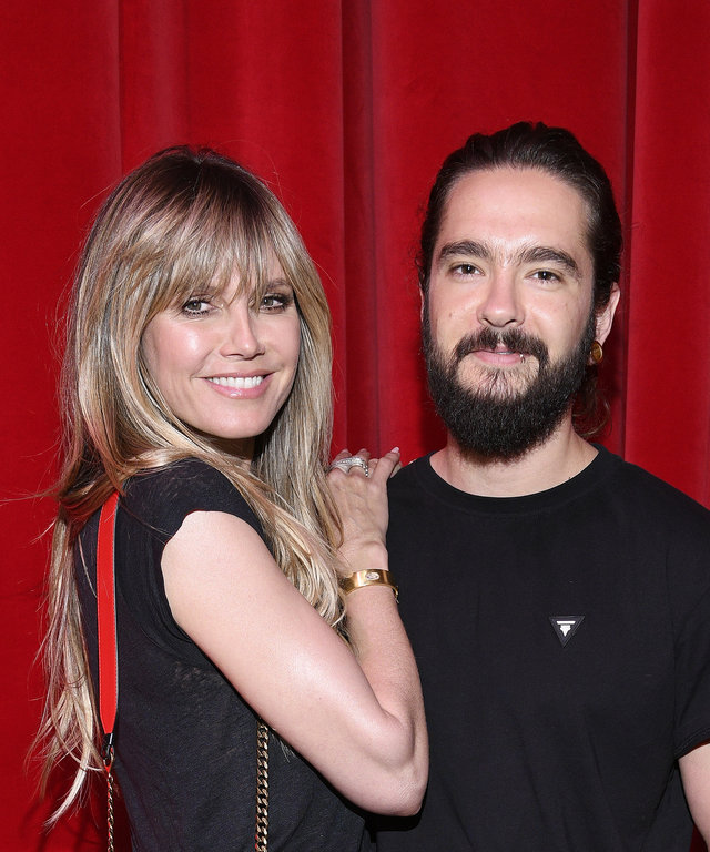 PARIS, FRANCE - JULY 02: Heidi Klum and Tom Kaulitz attend Loubhoutan Express presentation at La Garde Republicaine on July 02, 2019 in Paris, France. (Photo by Francois Durand/Getty Images For Christian Louboutin)