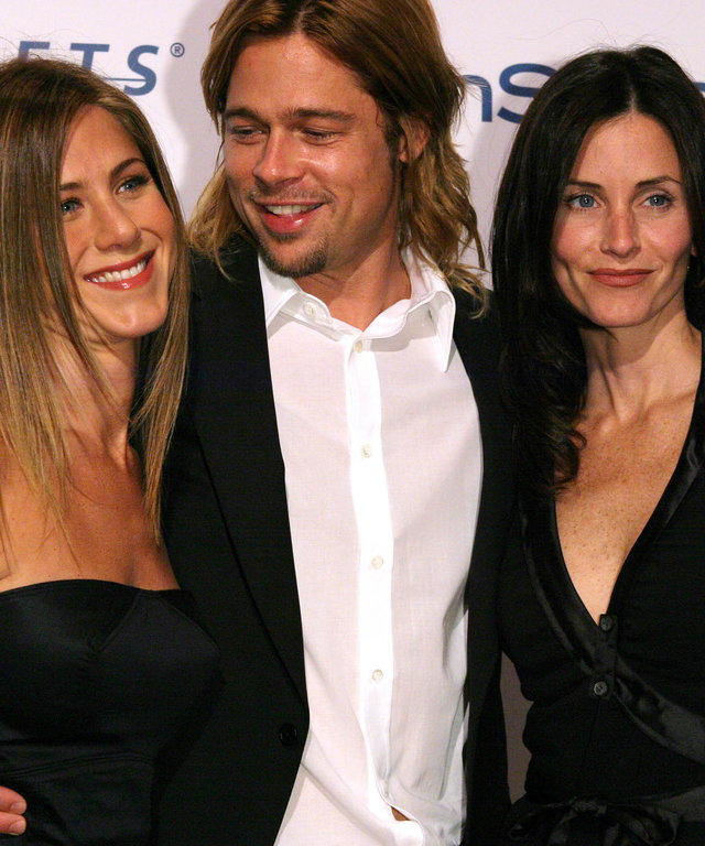 Jennifer Aniston Brad Pitt Courteney Co at Project A.L.S. Friends Finding A Cure Gala