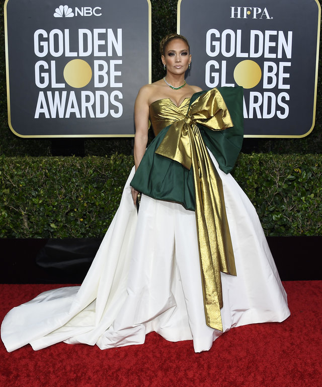 Jennifer Lopez Golden Globes Hair