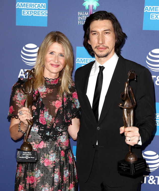Adam Driver and Laura Dern Palm Springs Film Festival 2020