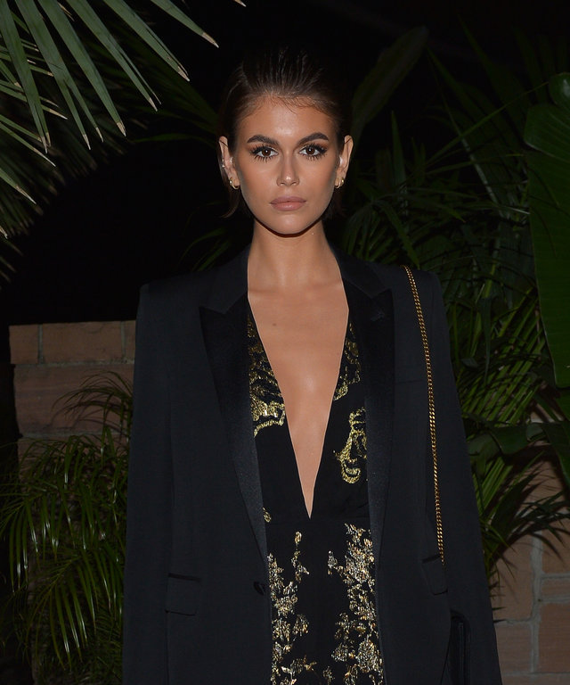 Kaia Gerber Saint Laurent Pre-Golden Globes Party