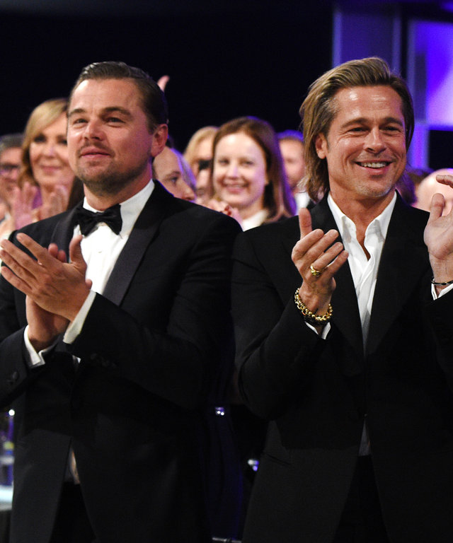 Brad Pitt Leonardo DiCaprio Screen Actors Guild Awards - Inside