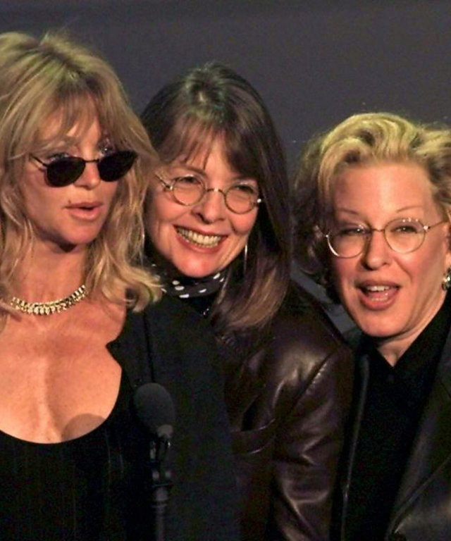 Goldie Hawn, Bette Midler, and Diane Keaton
