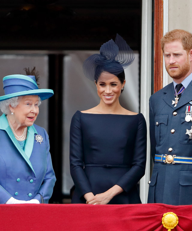 Queen Elizabeth Prince Harry Meghan Markle