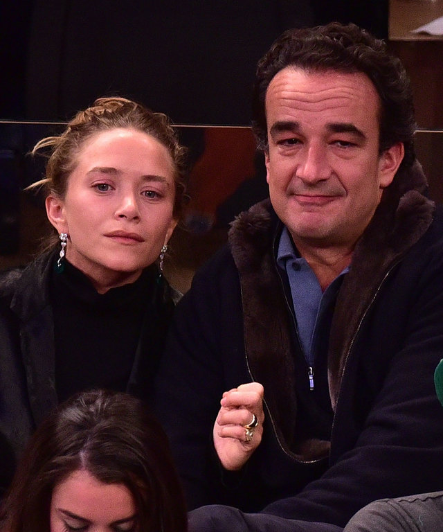 Mary-Kate Olsen and Olivier Sarkozy attend San Antonio Spurs Vs New York Knicks Game - March 17, 2015