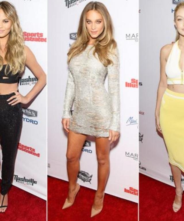 Chrissy Teigen, Hannah Davis, and Gigi Hadid