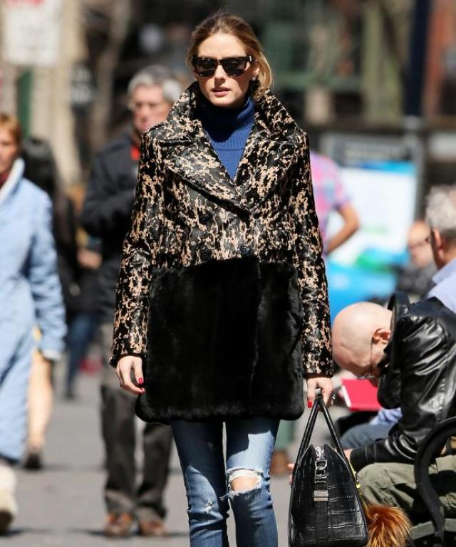 Olivia Palermo with husband Johannes Huebl and Mr. Butler.